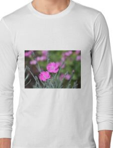 Pink summer flowers Long Sleeve T-Shirt