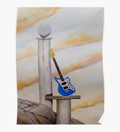 Rock Guitar Fender Poster