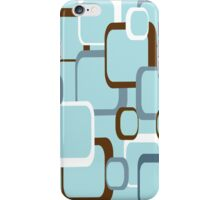 Retro Squares with Light Blue Background iPhone Case/Skin