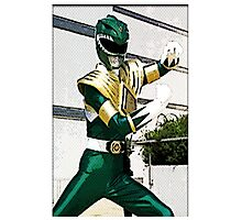 The Mighty Morphin Green Rangers Photographic Print