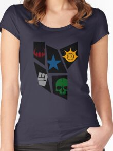 Black Rock icons Women's Fitted Scoop T-Shirt