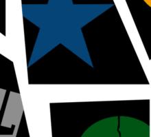 Black Rock icons Sticker