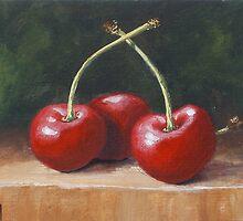 Three Cherries by karenhetzer