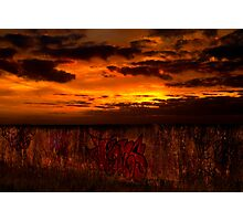 Graffiti Sunset Photographic Print
