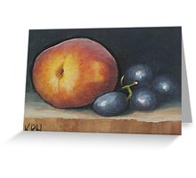 Peach and Grapes Greeting Card