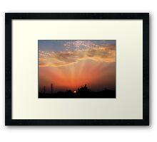 Salmon Sunset Framed Print