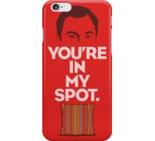 The Big Bang Theory My Spot iPhone Case/Skin