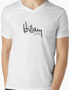 Hillary 2016 Signature Mens V-Neck T-Shirt