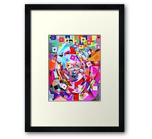Baby Smiling at the Digital World. Framed Print