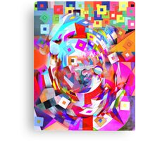 Baby Smiling at the Digital World. Canvas Print