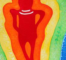 Rainbow Body original painting Sticker