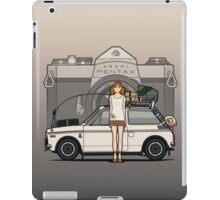 Honda N600 Rally Kei Car With Japanese 60's Asahi Pentax Commercial Girl iPad Case/Skin