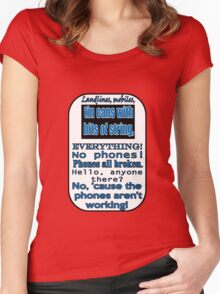Ianto Jones Phone Quote Women's Fitted Scoop T-Shirt