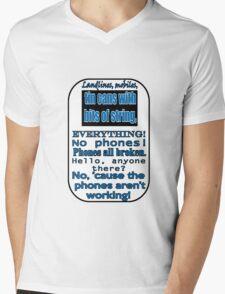 Ianto Jones Phone Quote Mens V-Neck T-Shirt