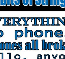 Ianto Jones Phone Quote Sticker