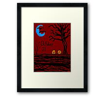 Halloween jack o lantern October 31 Tia Knight Framed Print