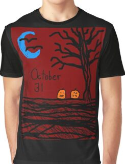 Halloween jack o lantern October 31 Tia Knight Graphic T-Shirt