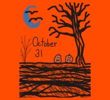 Halloween jack o lantern October 31 Tia Knight Kids Tee