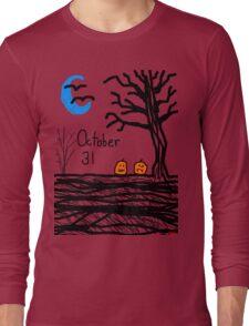 Halloween jack o lantern October 31 Tia Knight Long Sleeve T-Shirt