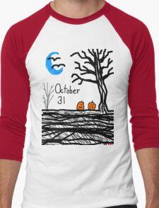 Halloween jack o lantern October 31 Tia Knight Men's Baseball ¾ T-Shirt