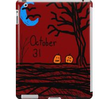 Halloween jack o lantern October 31 Tia Knight iPad Case/Skin