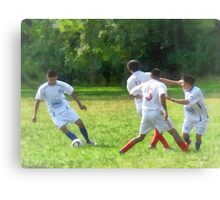 Soccer Ball in Play Canvas Print