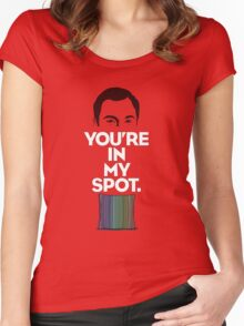 The Big Bang Theory My Spot Women's Fitted Scoop T-Shirt
