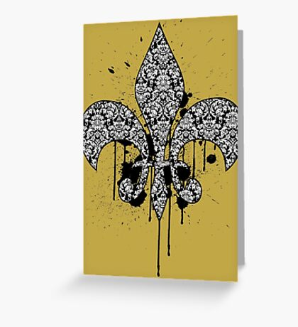 Damask Drips Greeting Card
