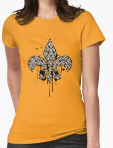 Damask Drips Womens Fitted T-Shirt