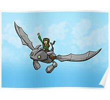 Flying Friends #1: How To Train Your Giant Poster
