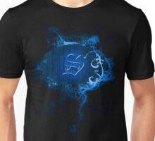 Retro Damask Pattern with Monogram Letter S Unisex T-Shirt