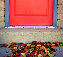 Leaves and Door by Susan S. Kline