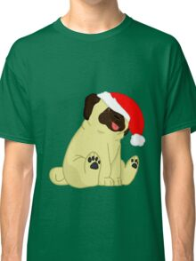 Holiday pug Classic T-Shirt