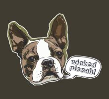 Boston Terrier Wicked Pissah by MudgeStudios