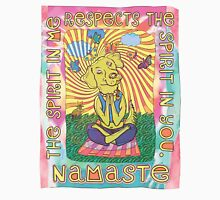 Namaste Yoga Dog Womens Fitted T-Shirt
