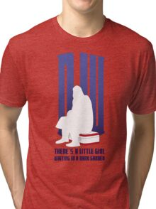 There is a little girl waiting... Tri-blend T-Shirt