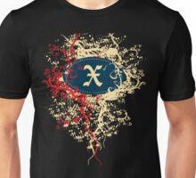 Retro Damask Pattern with Monogram Letter X Unisex T-Shirt