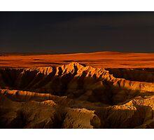 Sunset over Badlands National Park .5 Photographic Print
