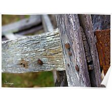 Old farm fence Poster