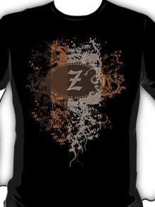 Retro Damask Pattern with Monogram Letter Z T-Shirt