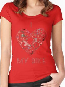 I Love My Bike Women's Fitted Scoop T-Shirt