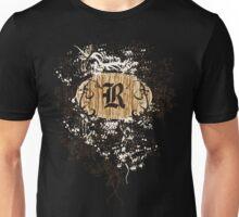 Retro Damask Pattern with Monogram Letter R Unisex T-Shirt