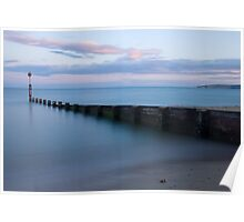 Bournemouth beach at Sunset Poster