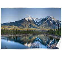 Mountains and Vermillion Lakes, Banff AB Poster