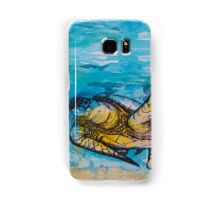 india ink blue and gold  Samsung Galaxy Case/Skin