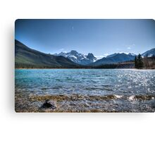 Banff mountains and beautiful lake Canvas Print