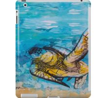 india ink blue and gold  iPad Case/Skin