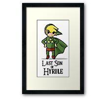 The Last Son of Hyrule Framed Print