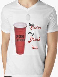 Beer Pong Legend, You Sink'em They Drink'em Mens V-Neck T-Shirt