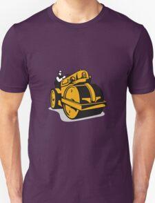 Vintage Road Roller  Retro Unisex T-Shirt